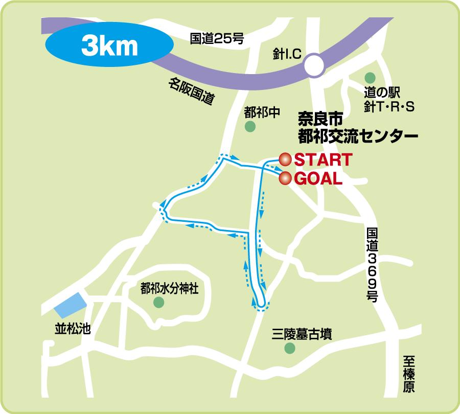 コースマップ(3km)